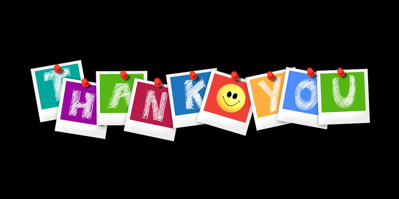 thank you, polaroid, letters